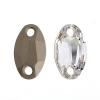 Preciosa Sew-on Mc Oval 2Hole 23x14mm Crystal